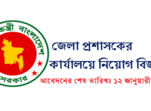 Office Of The District Commissioner Job Circular 2016