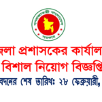 Office Of The District Commissioner Job Circular 2017