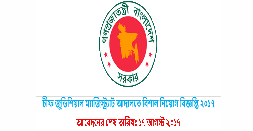 Job Circular Of Chief Judicial Magistrate Court 2017