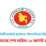 Job Circular Of Upazila Executive Officer's office 2017