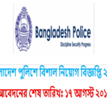 Job Circular Of Bangladesh Police 2017