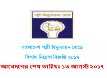 Job Circular Of Bangladesh Rural Electrification Board 2017