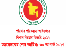 Job Circular Of District Family Planning Office 2017
