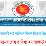 Job Circular Of Bangladesh Public Service Commission 2017