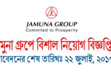 Job Circular of the Jamuna Group 2017