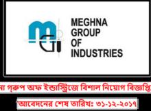 Job Circular Of Meghna Group 2017