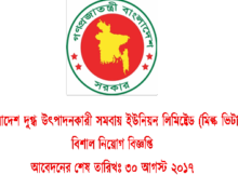 Job Circular Of Bangladesh Milk Producers Co-operative Union Limited 2017